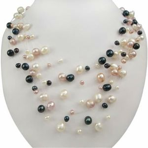 NWT trip colour freshwater pearl necklace